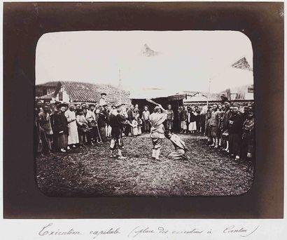 William SAUNDERS (1832-1892). Exécution capitale....
