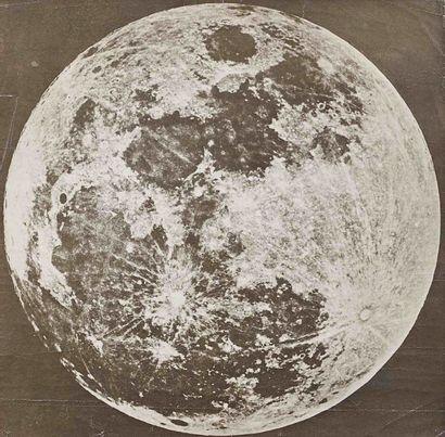 [ASTRONOMIE]. Pleine lune. Photographie d'après...