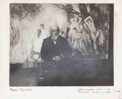 Émile Henri BERNARD (1868-1941). Paul Cézanne,...