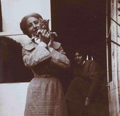 Edgar DEGAS (1834-1917). Portrait de femmes...