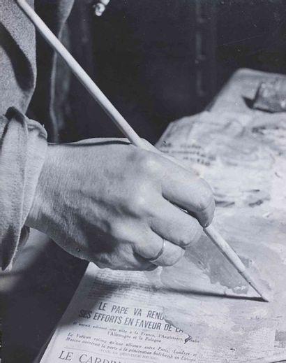 BRASSAÏ [Gyula Halász, dit] (1899-1984). La palette de Picasso. Vers 1939. Épreuve...