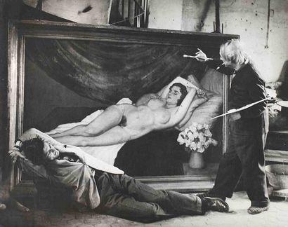 BRASSAÏ [Gyula Halász, dit] (1899-1984). Picasso « mimant l'artiste peintre » avec...