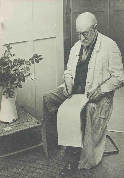 BRASSAÏ [Gyula Halász, dit] (1899-1984). Matisse dessinant. Paris. 1939. Épreuve...