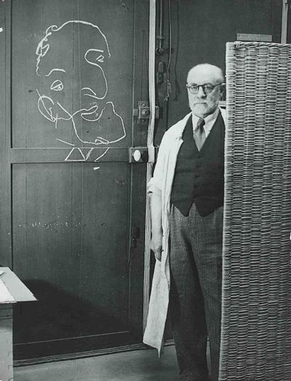 BRASSAÏ [Gyula Halász, dit] (1899-1984). Matisse devant un dessin exécuté les yeux...