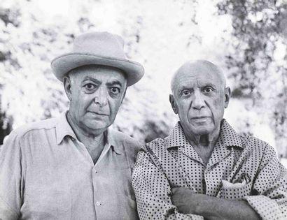 BRASSAÏ [Gyula Halász, dit] (1899-1984). Autoportrait avec Picasso , Jacqueline...