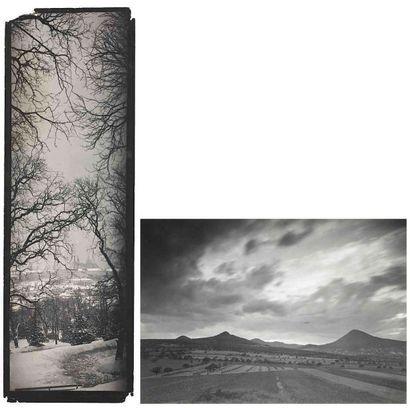 Joseph SUDEK (1896-1976). Paysage panoramique...