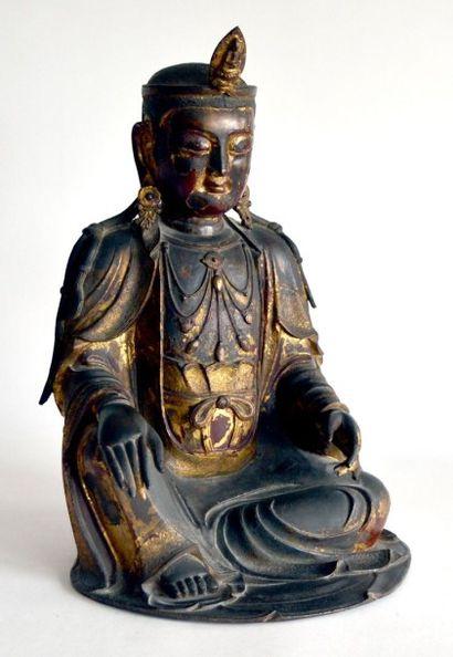 CHINE - Epoque Ming, XVIe siècle Grande statue...