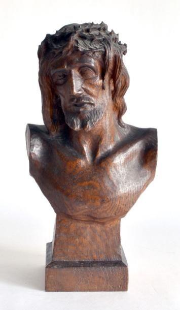 Georges ISELIN (1874-?) Buste de Christ à...