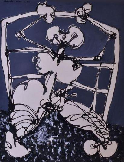 Claude VISEUX (1927-2008) L'araignée blanche,...