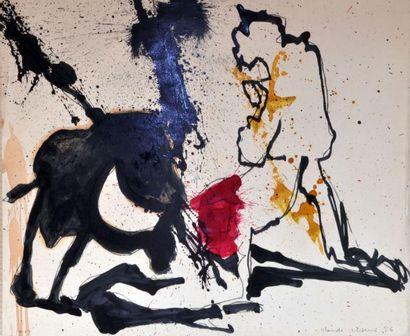Claude VISEUX (1927-2008) Lignes dispersées,...