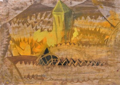 Eugène GABRITSCHEVSKY (1893-1979) Tour jaune...