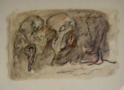 Henri MICHAUX (1899-1984) Sans titre Technique...