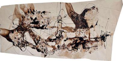 Bruno MÜLLER (1929-1989) Marron, 1956 Gouache...