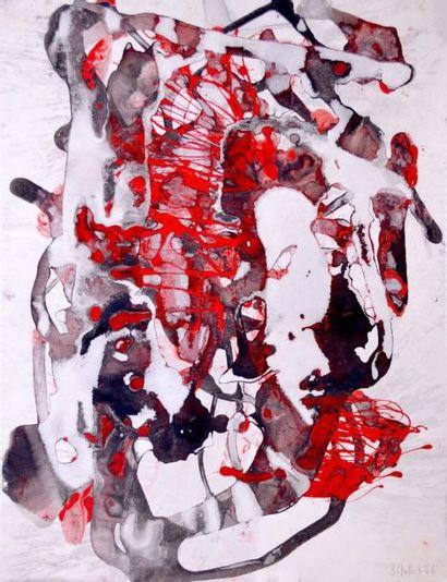 Bruno MÜLLER (1929-1989) Rouge et noire,...