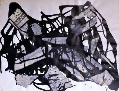 Bruno MÜLLER (1929-1989) Composition au journal...