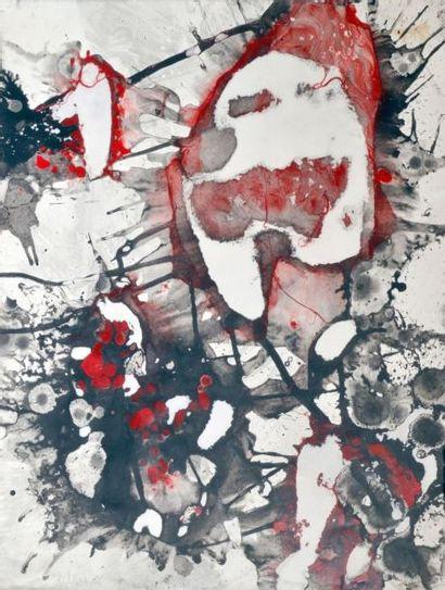 Bruno MÜLLER (1929-1989) Composition rouge,...