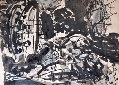 Bruno MÜLLER (1929-1989) Composition noir...