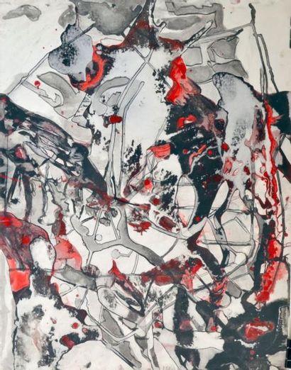Bruno MÜLLER (1929-1989) Composition noir,...