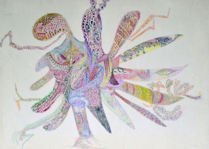 URSULA (1921-1999) Composition, 1957 Pastel...