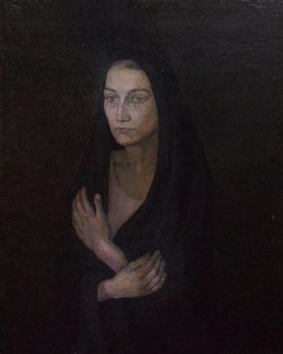 Jean FAUTRIER (1898-1964). Femme corse voilée....