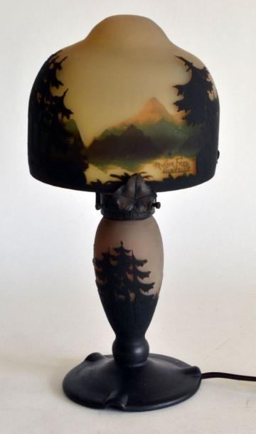 MULLER Frères, Lunévillle. Petite LAMPE champignon...