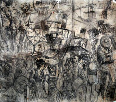 François DESNOYER (1894-1972) Femmes et marins...