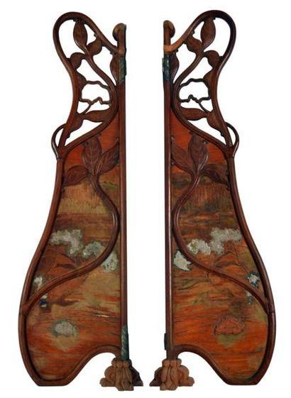 Paire de PANNEAUX latéraux de miroir, de...