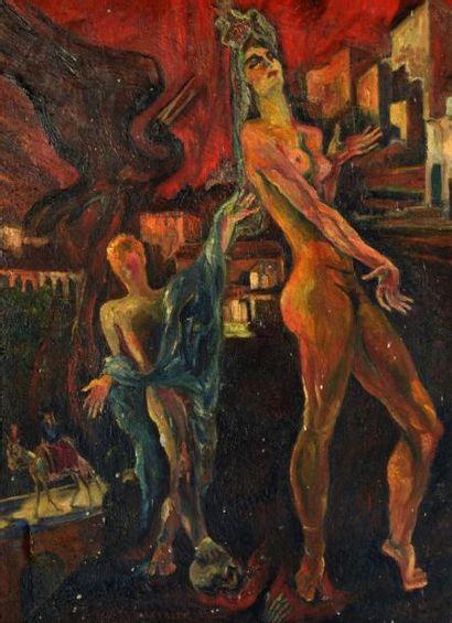 Léon DE LEYRITZ (1888-1976) Habanera, femme...