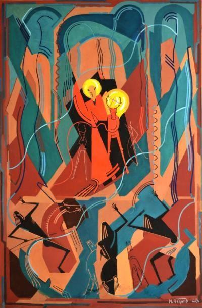 Marc HENARD (1919). Saint Hubert et le cerf....