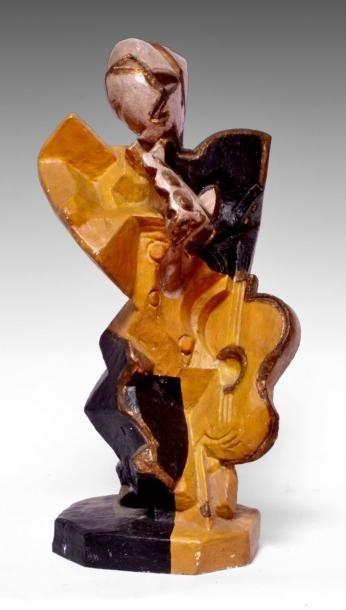 Léon BORGEY (1888-1959) Le flûtiste. Bronze...