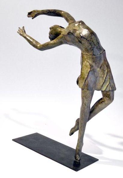 Aude de BEYSSAC, née en 1968. Hip Hop. Bronze...