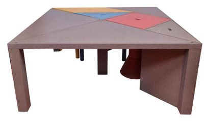 Massimo MOROZZI, né en 1941. Table 300 TANGRAM...