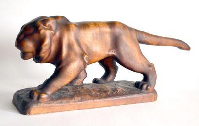 Ferdinand DOBLINGER (1872-1935) Lion marchant....