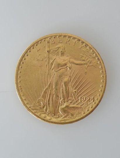 PIECE de 20 dollars or 1924 Liberty. Poids 33,5 g