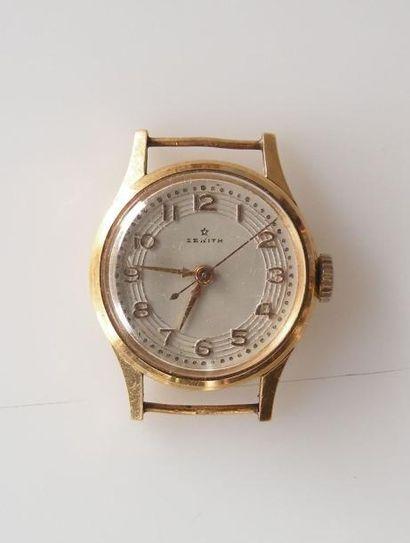 ZENITH. BOITIER de montre en or jaune. Poids...