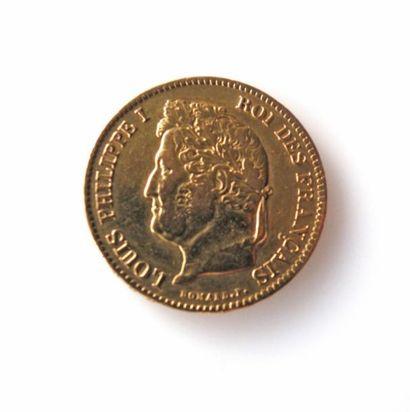 PIECE de 40 francs or à l'effigie de Louis...
