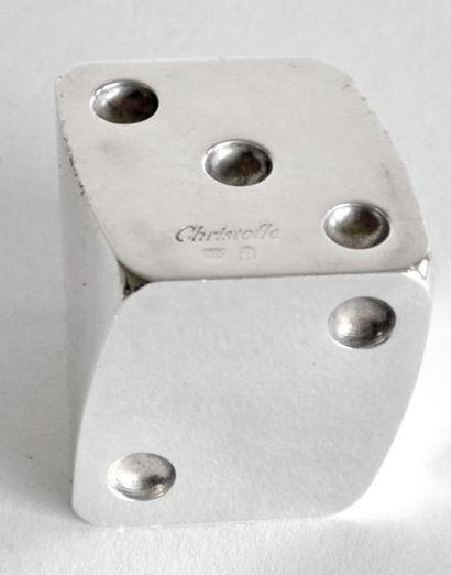 CHRISTOFLE. PRESSE-PAPIER en métal argenté...