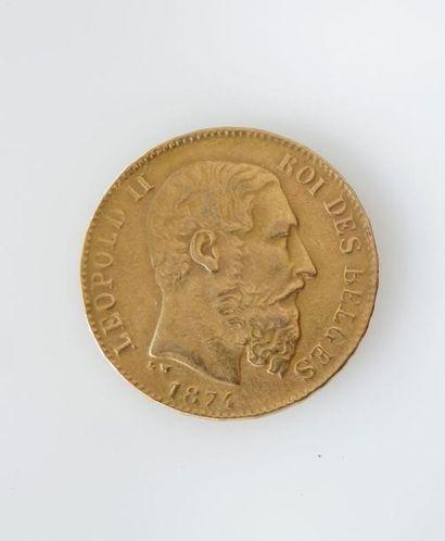 *PIECE de 20 francs belges en or