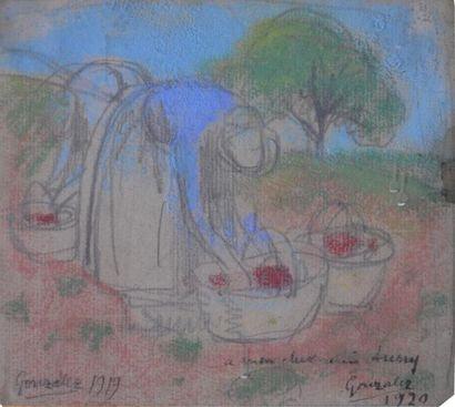 Julio GONZALEZ (1876-1942) Deux paysannes...