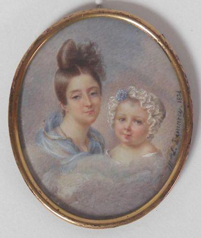 Antoinette-Louise DEMARCY (1788-1859) MINIATURE...