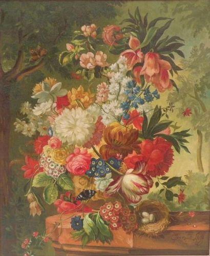 GEN d'après Joseph NIGG. Bouquet de fleurs...