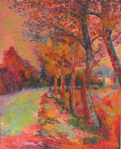Serge MENDJISKY (né en 1929). Allée aux arbres...