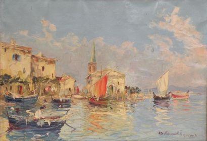Salomon LE TROPÉZIEN (XX) Port méditerranéen....