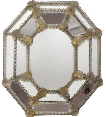 GLACE octogonale à deux rangées de parcloses...