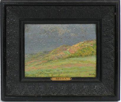 Georges MITA (1871-1904) Après l'orage, collines...