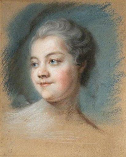 Ecole française XIXe Portrait de jeune femme....