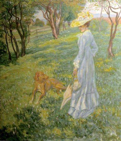 Raphaël-Léon LE GUILLOUX (1871-1938) Elégante...