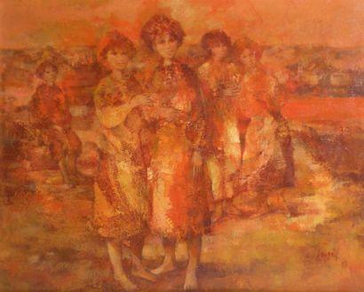 Daniel JAUGEY (1929) Femmes aux pieds nus....