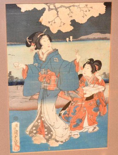 Utagawa Kunisada (1786-1865): Oban, partie...