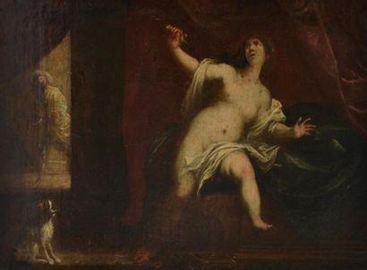 Ecole italienne du XVIIe. La mort de Lucrèce....
